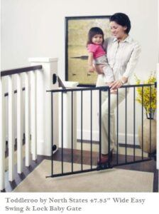 5 Simple Tips To Baby Gate First Years-Toddleroo by North States Wide Easy Swing Baby Gate