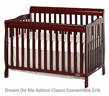 Ashton Classic Convertible Baby Crib Furniture