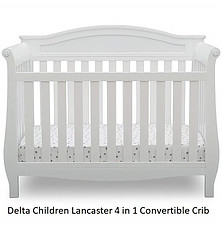 The Lancaster Convertible Baby Crib, white color