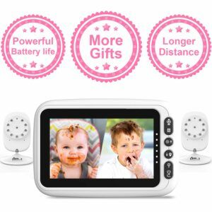 The Best Baby Monitor With 2 Cameras-DR.J Professional with 2 Auto-Switch Cameras