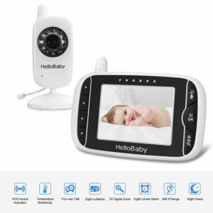 The Best Baby Monitor With 2 Cameras-Hello Baby Video Baby Monitor with Camera and Audio
