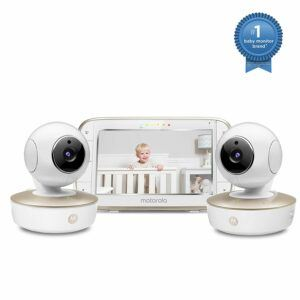 The Best Baby Monitor With 2 Cameras-Motorola Video Baby Monitor - 2 Wide Angle HD Cameras