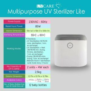 UV Care Baby Bottle Sterilizer