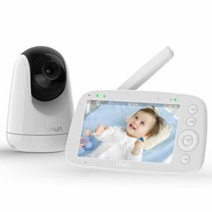 "The Best Baby Monitor With 2 Cameras-VAVA 720P 5"" HD Display Video Baby Monitor with Camera and Audio"