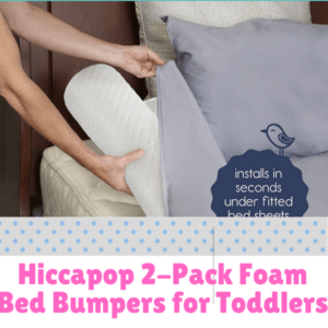 Bed Guard Rails for Children-Hiccapop 2-Pack Foam Bed Bumpers for Toddlers