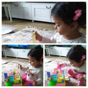 Indoor Activities for 2-Year-Olds- Learning Activity playing with blocks - My Mum and Daughter