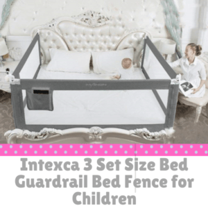 Bed Guard Rails for Children-Intexca 3 Set Size Bed Guardrail Bed Fence for Children