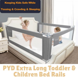 Bed Guard Rails for Children-PYD Extra Long Toddler & Children Bed Rails