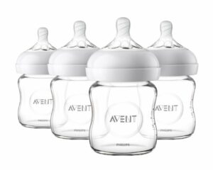 Best Baby Bottles Newborns - Philips Avent Natural Glass Baby Bottle, 4oz