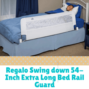 Bed Guard Rails for Children-Regalo Swing down 54-Inch Extra Long Bed Rail Guard