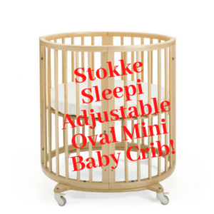 Stokke Sleepi Adjustable Oval Mini Baby Crib