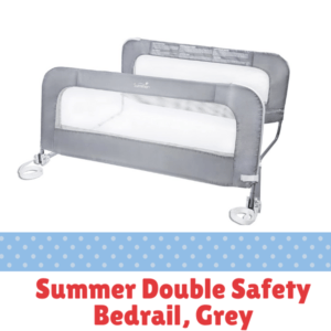 Bed Guard Rails for Children-Summer Double Safety Bedrail, Grey