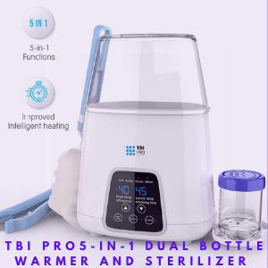Best Baby Bottle Warmer and Sterilizer-TBI Pro Dual Bottle Warmer and Sterilizer 5-in-1