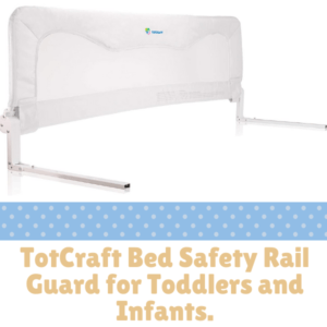 Bed Guard Rails for Children -TotCraft Bed Safety Rail Guard for Toddlers and Infants.
