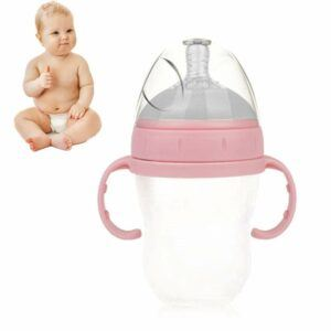 Best Baby Bottles Newborns- WDXIN Baby Bottles Closer to Nature Food, Baby Large Diameter Bottle Detachable Straw Handle