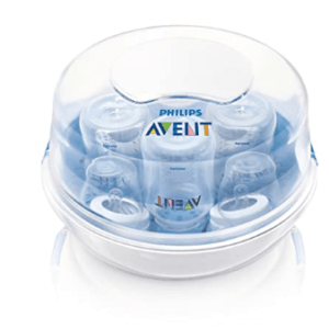 Three Avent Baby Bottle Sterilizer-Avent Microwave Steam Sterilizer