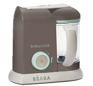 Baby Food Makers 2020-BEABA Babycook 4 in 1 Steam Cooker and Blender, 4.5 cups, Dishwasher Safe, Latte Mint