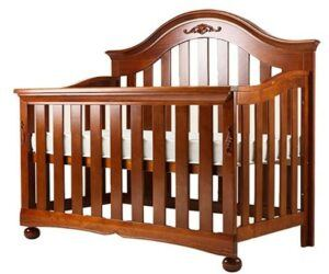 The Best Baby Cribs 2020-DUWEN Cot Bed Solid Wood Multifunctional