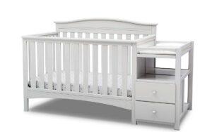 The Best Baby Cribs 2020-Delta Children Birkley Convertible Crib and Changer, Bianca White
