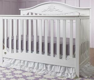 The Best Baby Cribs 2020-Fisher-Price Mia 4-in-1 Convertible Crib, Snow White