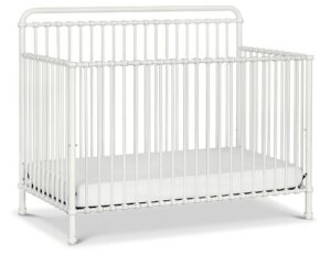 The Best Baby Cribs 2020-Million Dollar Baby Classic Winston 4-in-1 Convertible Iron Crib in Washed White