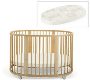 The Best Baby Cribs 2020-Stokke Sleepi Crib and Matress Bundle, Natural