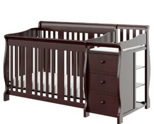 The Best Baby Cribs 2020-Storkcraft Portofino 4-in-1 Fixed Side Convertible Crib and Changer, Espresso