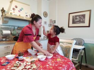 Toddler Cooking Activities- Decorating Easter Cookies-My Mum And Daughter