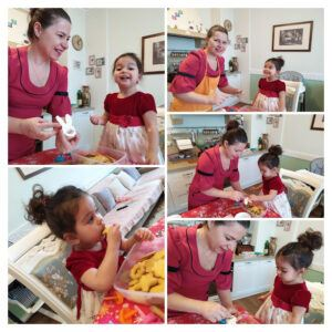 Toddler Cooking Activities- Decorating Easter Cookies With My Daughter-My Mum And Daughter