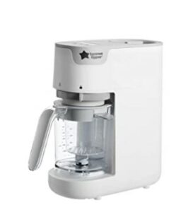 Baby Food Makers 2020-Tommee Tippee Quick Cook Baby Food Maker, White