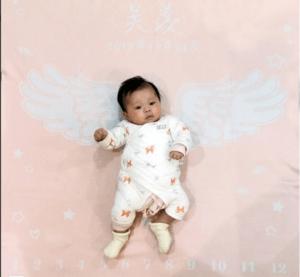 Personalized Newborn Baby Blankets-Angel Wings Milestone Blanket