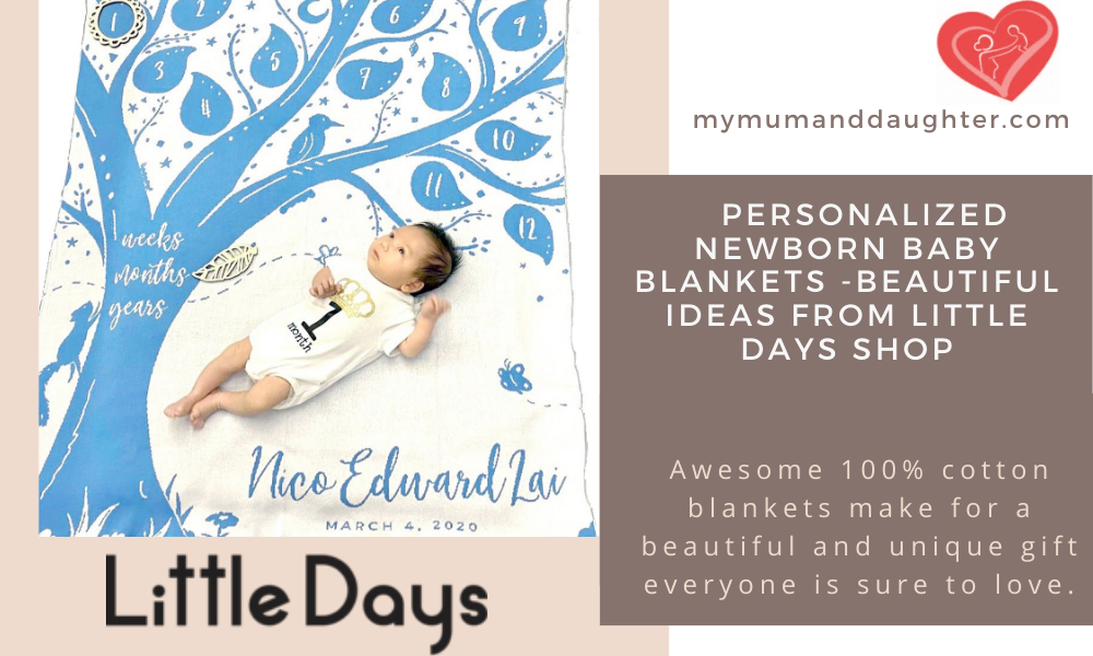 Personalized Newborn Baby Blankets-My Mum and Daughter