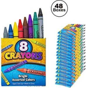 Halloween Arts And Crafts For Toddlers-48 Packs of 8 Crayons for Kids Bulk