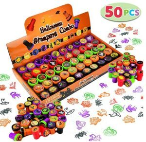 Halloween Arts And Crafts For Toddlers-50 Pieces Halloween Assorted Stamps
