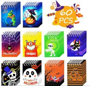 Halloween Arts And Crafts For Toddlers-60PCS Halloween Notepads Party Favors for Kids
