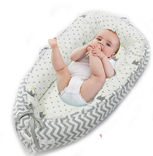 Top Rated Baby Floor Seats-Abreeze Baby Bassinet for Bed -Crown Baby Lounger