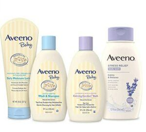 Mother And Daughter Gift Ideas-Aveeno Baby Daily Bathtime Solutions Gift Set to Nourish Skin for Baby and Mom, 4 items