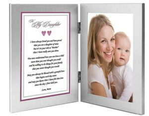 Mother And Daughter Gift Ideas- Photo Frame with a Mother to Daughter Poem Praising Her for Being a Good Mother