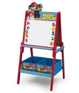 Halloween Arts And Crafts For Toddlers-Delta Children Wooden Double-Sided Kids Easel with Storage