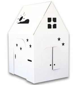 Halloween Arts And Crafts For Toddlers-Easy Playhouse - Kids Art & Craft for Indoor & Outdoor Fun, Color, Draw, Doodle on this Blank Canvas