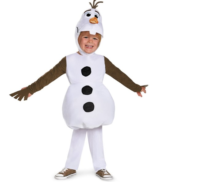 Funny Baby Halloween Costumes-Infant and Toddler Frozen Classic Olaf Costume 2T White