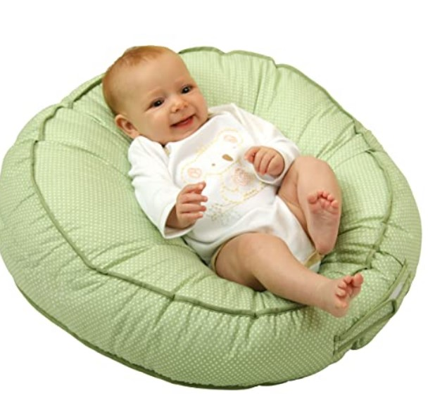 Top Rated Baby Floor Seats-Leachco Podster Sling-Style Infant Seat Lounger, Sage Pin Dot