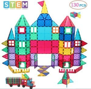 Halloween Arts And Crafts For Toddlers-Manve Magnetic Building Blocks Tiles Toy, Magnet Toys 130 Pcs STEM Toddler