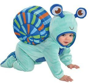 Funny Baby Halloween Costumes-Party City Snail Crawler Halloween Costume for Babies Includes Accessories