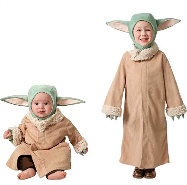 Funny Baby Halloween Costumes-Princess Paradise The Mandalorian The Child Dress-Up Robe Costume with Headpiece