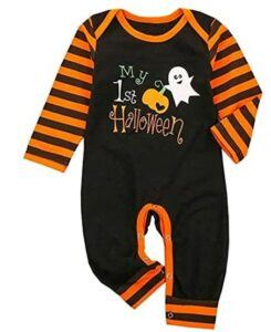 Funny Baby Halloween Costumes-Unisex Baby Girl Boy My First Halloween Clothes Outfits Costumes Pumpkin Romper Jumpsuit Bodysuit One-Piece