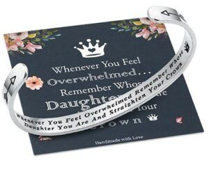 Mother And Daughter Gift Ideas-Inspirational Bracelets Personalized Gift for Mom and Daughter