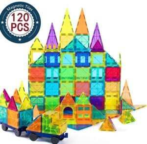 Halloween Arts And Crafts For Toddlers-Cossy Kids Magnet Toys Magnet Building Tiles, 120 Pcs 3D Magnetic Building Blocks Set, Educational Toys for Kids Children