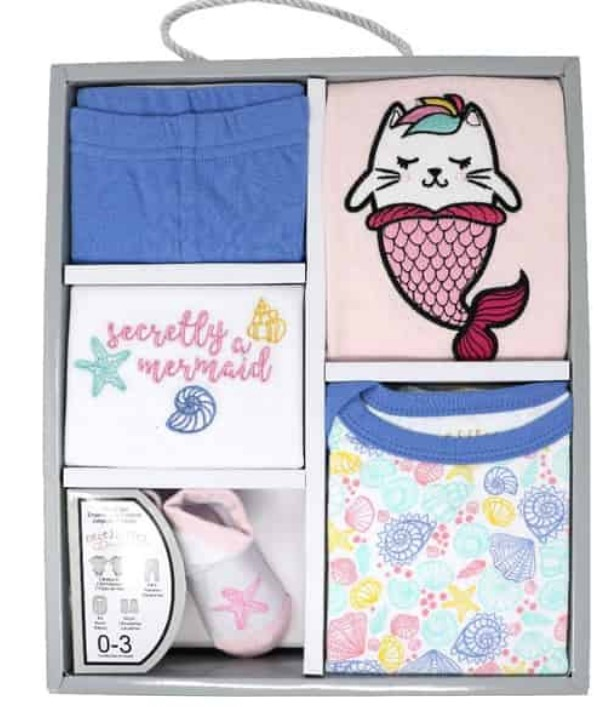 Cute Baby Shower Gift Basket Ideas-5 Pieces Baby girl