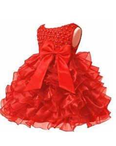Christmas Dresses For Girls-Baby Girl Dresses Ruffle Lace Pageant Party Wedding Flower Girl Dress